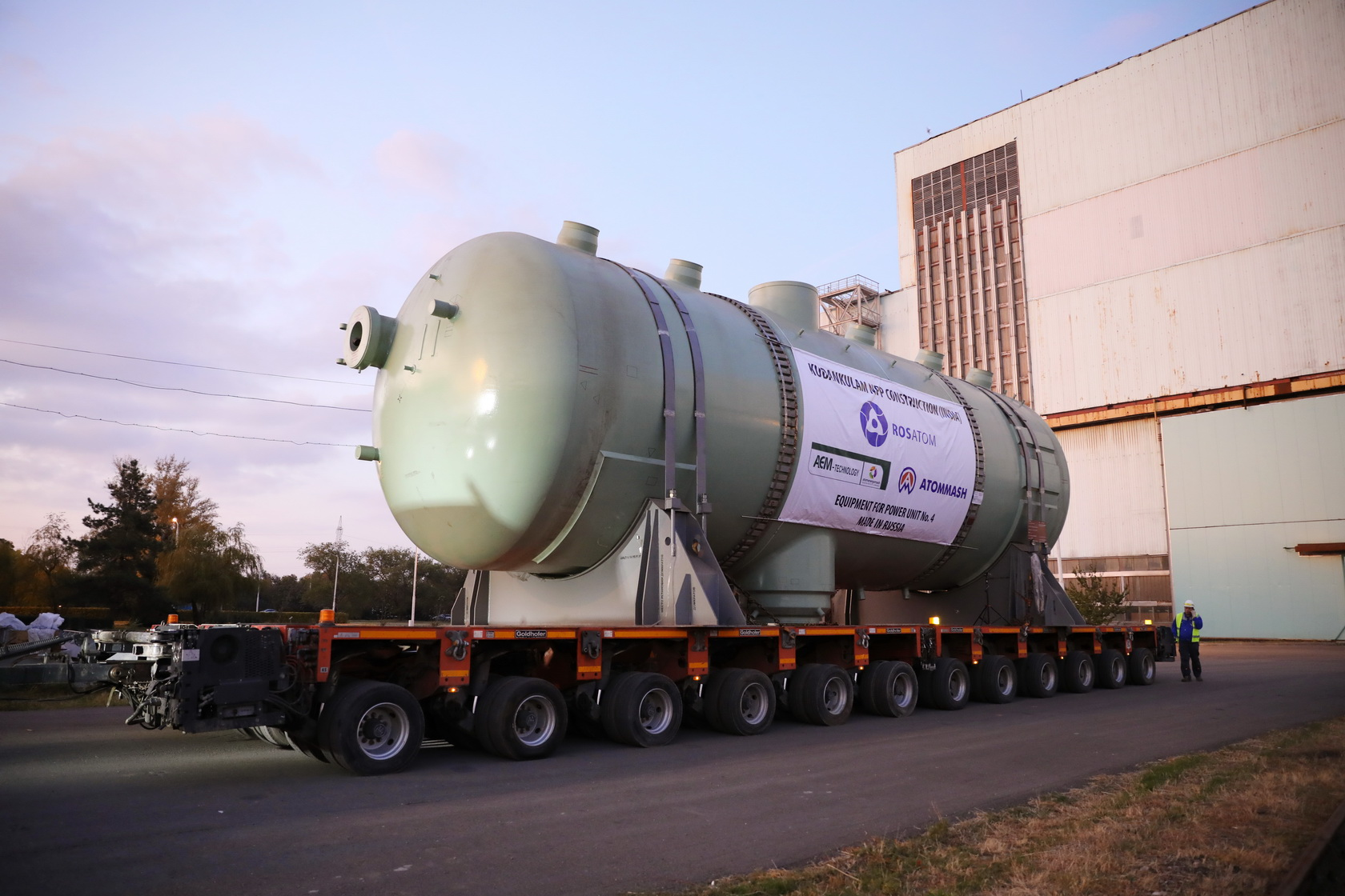 Russia Shipped the Second Steam Generator for Unit 4 of Kudankulam Nuclear Power Plant in India