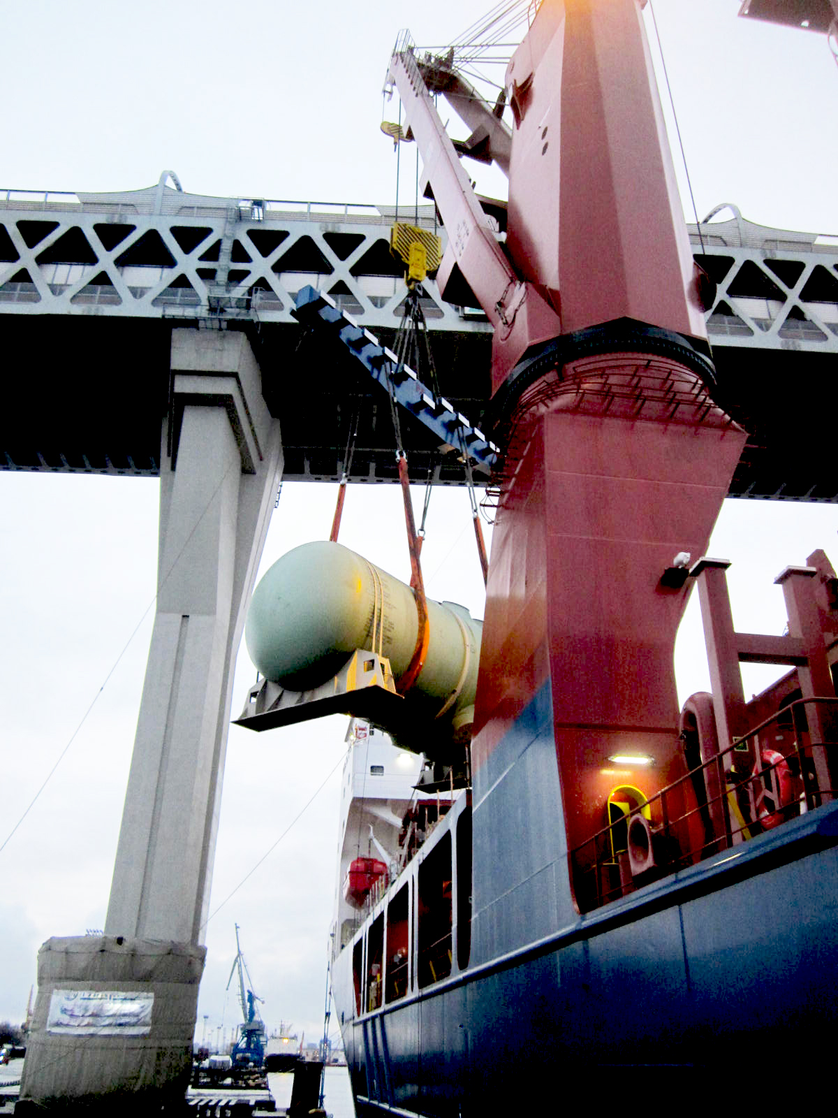 Reactor  pressure vessel and core catcher have been shipped for Kudankulam NPP Unit 4 in India