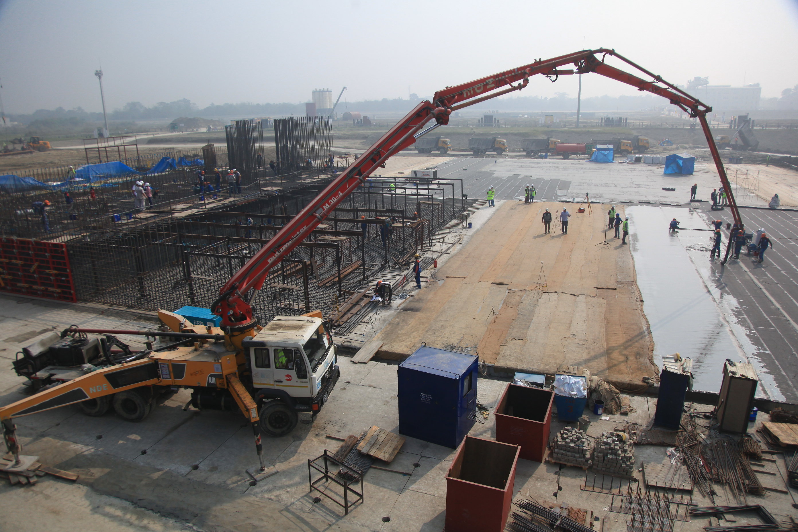 First concrete poured at the Rooppur NPP construction site in Bangladesh